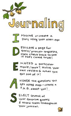 Journaling I-D-E-A-S :)