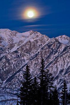 Moon Over Twilight Peak - San Juan Mountains, Colorado