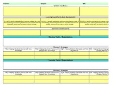 this lesson plan template contains drop down menus for ngss common core as well as marzano. Black Bedroom Furniture Sets. Home Design Ideas