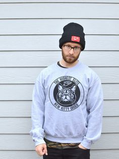 Sports Grey Elite Kitty Sweatshirt.