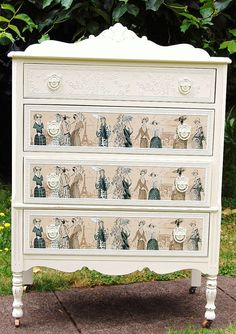 Shabby Chic Distressed  Dresser with 1920s by Daniscustomdesigns, $395.00