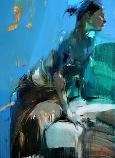 Afternoon blues: Oil on canvas by Iryna Yermolova