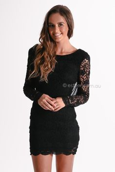 kendra cocktail dress - black | Esther clothing Australia and America USA, boutique online ladies fashion store, shop global womens wear worldwide, designer womenswear, prom dresses, skirts, jackets, leggings, tights, leather shoes, accessories, free shipping world wide. – Esther Boutique