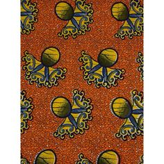 Traditional African Patterns Real Wax Flower Design Orange Birthday Gift rw87801 African Textiles, African Fabric, African Art, African Patterns, Wax Flowers, Ankara Fabric, Textile Patterns, Pattern Art, Flower Designs