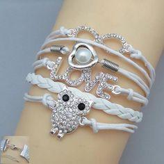 Dashing Owl Shape Multi Layered Bracelet Design