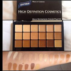 Graftobian Foundation palette, with almost every color and HD full coverage. Blends beautifully and colors mix awesome to mix and match those hard to find undertones Makeup Geek, Makeup Addict, Beauty Makeup, Face Makeup, Makeup Hacks, Makeup Artist Tips, Freelance Makeup Artist, Professional Makeup Kit, Makeup Tutorials