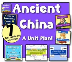 Ancient China Unit: 7 engaging activities! Geography, Dynasties, & Philosophy!
