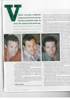 The men behind the challenge! Visalus. Pg.5  http://vickyleclaire.bodybyvi.com/