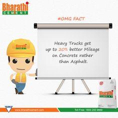 #OMG Fact Concrete vs Asphalt. Stay Tuned for more interesting Updates