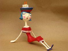 by Mauricio Perez Paper Mache Projects, Paper Crafts, Plaster Art, Paper Board, Biscuit, Paperclay, Weird Art, Tricks, Sculpture Art