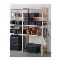 IKEA - KLÄMTARE, Låda med lock, inom-/utomhus, 27x45x15 cm, , Du kan även…