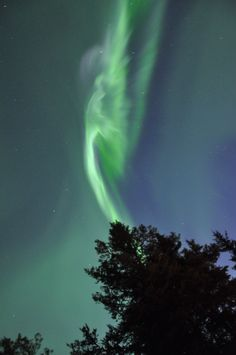 Aurora Borealis image of an angel.