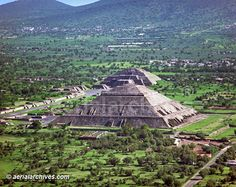 Pyramid of the Sun and Pyramid of the Moon - Teotihuacan, Mexico