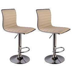 Swivel Bar Stool Modern Adjustable Height Metal Diner Chair Hydraulic Off White