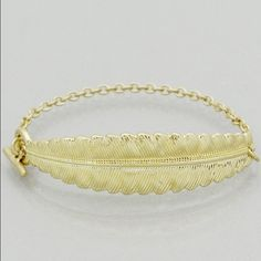 Gold leaf bracelet Retail. New in packaging. Measurements are shown in pictures Jewelry Bracelets