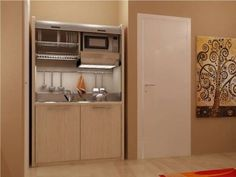 Mini cucine, cucine a scomparsa, cucine monoblocco compatte con ...
