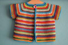 vicarno's mama: Gratis haakpatroon kleurrijk babyvestje - free crochet pattern colourfull baby cardigan