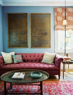 House of Turquoise: 2015 Pantone Color of the Year: Marsala Sélection Pantone 2015 Marsala Living Room Photos, Living Room Paint, Living Spaces, Living Area, Living Rooms, Coffee Table Alternatives, Pantone 2015, Pantone Color, Home Interior