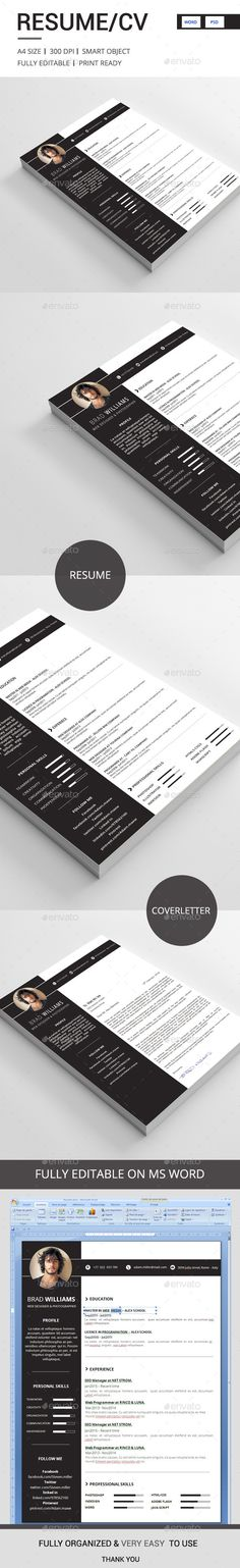 Resume Template #design Download: http://graphicriver.net/item/resume/12650876?ref=ksioks