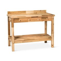 Make your gardening easier with the Potting Table in Red Cedar from Smith & Hawken. This planting bench has 2 shelves, a handy storage tray and utensil hooks on the side to keep everything in place.