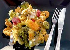 Zapiekanka z tortellini, brokułem i kurczakiem - Blog z apetytem Donia, Tortellini, Cauliflower, Macaroni And Cheese, Sushi, Eggs, Chicken, Meat, Vegetables