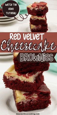 Red Velvet Cheesecake Brownies Bite into one of these decadent Red Velvet Cheesecake Brownies and taste the perfect combination of chocolate with a sweet cheesecake topping that's lightly swirled into the brownie. It's positively swoon-worthy! Best Dessert Recipes, Fun Desserts, Snack Recipes, Best Chocolate, Chocolate Recipes, Chocolate Lovers, Cheesecake Toppings, Cheesecake Recipes, Brownie Recipes