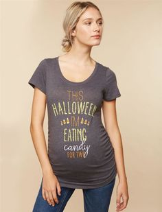 Eating Candy For Two Maternity Tee, Halloween Costume, Pregnancy announcement #afflink