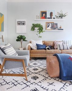Vintage Decor Living Room Sitting room inspiration by Sunny Circle Studio with our Berber Shag Area Rug. Cozy Living Rooms, Home Living Room, Interior Design Living Room, Living Room Furniture, Living Room Designs, Living Room Decor, Living Spaces, Rustic Furniture, Couch Furniture