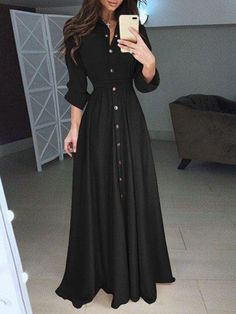 Dresses Elegant, Stylish Dresses, Fashion Dresses, Long Casual Dresses, Long Maxi Dresses, Women's Fashion, Dress Casual, Long Sleeve Summer Dresses, Dresses For Hijab