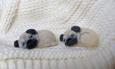 Felt Brooches – Pug dog Felt brooch Felt dog Wool brooch Puppy – a unique product by S-Elana on DaWanda