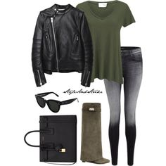 giv boots. by scarletoliviax on Polyvore featuring American Vintage, Sacai Luck, J Brand, Givenchy, Yves Saint Laurent and CÉLINE