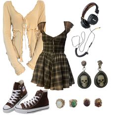 Teen Fashion Outfits, Retro Outfits, Grunge Outfits, Cute Casual Outfits, Looks Teen, Alternative Outfits, Aesthetic Clothes, Hello Kitty, Mood