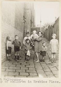 Children in Erskine Place, North Melbourne Australia. Slums. taken by F. Oswald…