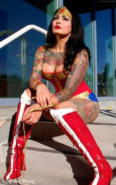 lincolnhaterga:  Tatted Wonder Woman