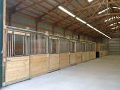 rough cut horse stalls with yokes winston salem nc Horse Stalls, Horse Barns, Horses, Dream Stables, Dream Barn, Rustic Barn, Barn Wood, Horse Shelter, Barn Living
