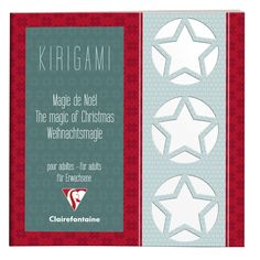 Carnet de Kirigami Magie de Noël Clairefontaine #kirigami
