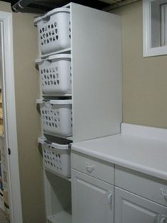 dedicated area for laundry baskets - why is this so hard for my builder to understand?????