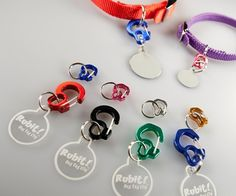 Love Collars but hate changing tags? Don't like the sound of your dogs collar tags jingling at night? Then Over The Moon Dogs has the solution!The Rubit (ro. Collar Clips, Dog Collar Tags, Pet Collars, Cat Tags, Dog Id Tags, Martingale Dog Collar, Pet Id, Dog Supplies, Back Home