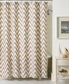 Kassatex Bath Accessories, Chevron Shower Curtain - Shower Curtains & Accessories - Bed & Bath - Macy's
