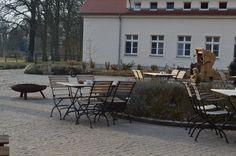 Der innen Hof vom Wasserschloss Mellenthin