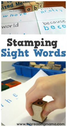 Stamping Sight Words ~ Low-Prep and Easy to Adapt ~ perfect for the classroom or at home! | This Reading Mama