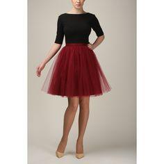 Short Burgundy Tulle Skirt Light Tulle Skirt Handmade Tutu Skirt Adult... (125 CAD) ❤ liked on Polyvore featuring skirts, mini skirts, white, women's clothing, tulle mini skirt, white mini skirt, short tutu, short skirts and short tulle skirt
