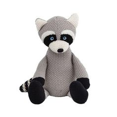 Lily & George bring us a gorgeous range of childrens gifts. Wild Ones Racoon. Information: – Waffle knitted racoon toy. Racoon, Childrens Gifts, Wild Ones, Online Gifts, Softies, Lily, Teddy Bear, Nursery, Toys