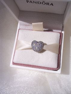 Pandora Open My Heart Pave Clear CZ Clip High by JEWELSELAGANT