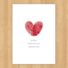 thumb print heart- save the date idea. As you can see i'm obsessed with hearts and Love :)