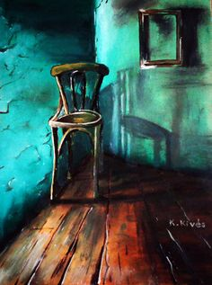 MIndössze egy szék. Olaj, falap, 40x30cm Painting, Art, Painting Art, Paintings, Kunst, Paint, Draw, Art Education, Artworks