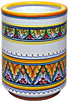 Сорочьи радости - Орнаменты итальянской майолики. Дерута. Ceramic Vase, Ceramic Pottery, Painted Rocks, Hand Painted, Tanjore Painting, Marble Painting, Ceramic Design, Flower Art, Ceramics