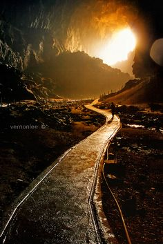 Mulu Cave, Sarawak, Malaysia This looks like if i were to follow the path it would take me directly to heaven where i could see my mom & brother once again! Miss you both so very much!! Kevin & Sandy