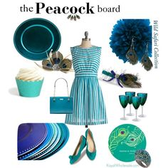 Gorgeous #Peacock Blue Event Decor and Baubles by Koyal Wholesale