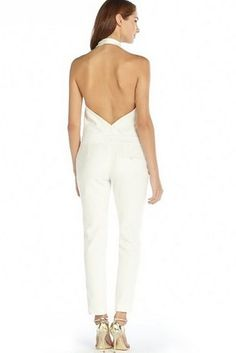 Haute Hippie Halter Neck Jumpsuit   17 Impossibly Pretty Solange-Inspired Bridal Jumpsuits